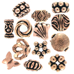 Antique Finish Copper Beads