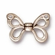 TierraCast Antique Silver Plated Butterfly Wings Bead (Qty 4)