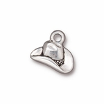TierraCast  Antique Silver Plated Cowboy Hat Charm