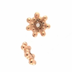 B Copper Bead 03 - 7.5mm, Bright Finish (25)