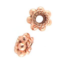 B Copper Bead 04 - 7mm, Bright Finish (10)