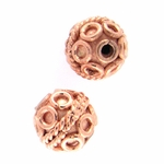 B Copper Bead 15 - 8mm, Bright (10)