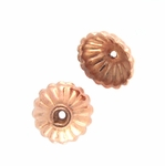B Copper Bead Cap 01 - 9mm, Bright Finish (12)