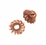 B Copper Bead Cap 04 - 6.5mm, Bright Finish (12)