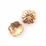 B Copper Bead Cap 06 - 7.5mm, Bright Finish (12)
