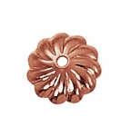 B Copper Bead Cap 08 - 7mm w/1.2mm hole
