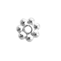 Bali-Style Brite 3mm Daisy Spacer, 50 pieces