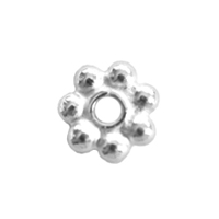 Bali-Style Brite 4mm Daisy Spacer, 50 pieces