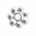 Bali-Style Brite 6mm Daisy Spacers (25)
