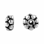 Bali-Style Sterling  Silver Stacked Daisy Spacer Bead 02 (25)