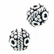 Bali-Style Sterling  Silver Bead Round 7mm nbr06 (10)