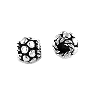 Bali Style Sterling 4.5mm Silver Bead, Large hole, 10 pieces, style 08, closeout
