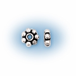 Bali-Style 6mm Sterling Silver Daisy Spacer Bead nbr19 (25)
