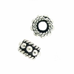 Bali-Style Sterling  Silver Bead, large hole2.5mm, closeout 10 pieces