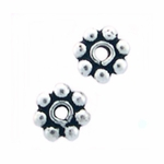 Bali-Style Sterling Silver Daisy Spacer 3mm Bead nbr27 - (50)