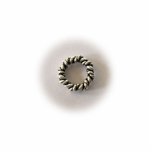 Sterling  Silver Double Twisted Closed Jump Rings Bali-Style  7mm (25pk) *overstocked sale*