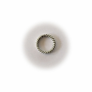 Silver Sterling  Silver Twisted Closed Jump Rings Bali-Style 7mm (25pk) *overstocked sale*