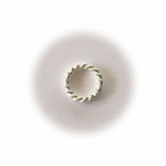 Bali Sterling Silver Bright Twisted Closed Jump Rings 8mm (10pk)