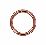 Copper Closed Jump Rings 8mm (25)