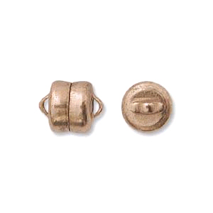 Copper Magnetic Button Clasp 6mm