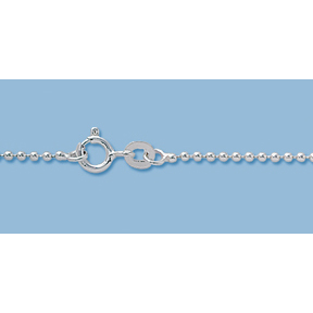"16"" Sterling Silver Ball Chain, Finished Chain, Choker Chain,  1.5mm 16 inch"