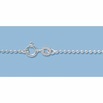 Finished Sterling Silver Ball Chain 1.5mm 18 inch