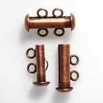 Genuine Antiqued Copper 16mm Double Strand Slider Clasp