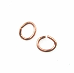 Genuine Copper Open Oval Jump Rings 5mm (50)