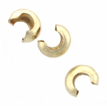 Gold-Filled 3mm Crimp Covers (20 pieces)