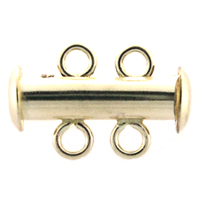 Gold-Filled Magnetic 2-strand Slider Clasp
