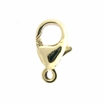 14K Gold-Filled Oval Lobster Clasp Claw 9mm Trigger Clasp, per piede