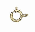 Gold-Filled Spring Ring Clasps 5mm - Open Ring (10 pk)