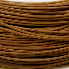 Greek Leather Cord Tobacco 1.5mm - per yard (3 ft)