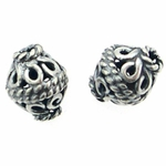 Sterling Silver Bali Spacer Beads, Handcrafted