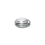 Oval Sterling Straight Corrugated Spacers 3 x 4.5mm Beads (50 pcs)