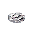 Oval Sterling Twisted Corrugated Spacers 3 x 4.4mm Beads (50 pcs)