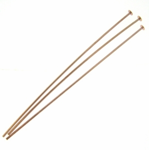 Rose Gold Vermeil Headpins 22GA, 2in (20)