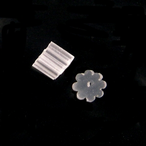Earring Stoppers, PVC *changed* to 24 pieces
