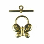 Shiny Brass Butterfly Toggle
