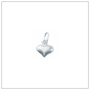 Silver Filled Heart Charms
