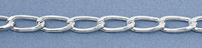 Silver-Filled Curb Chain 006 - 8.5mm x 3.7mm, By the Foot