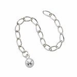 "Silver-Filled Extender Chain  - 3""  with 5mm Ball"
