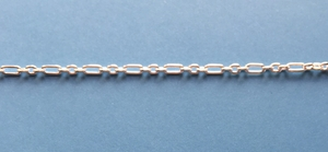 Silver-Filled Long and Short Chain #007 5x2mm long 3x2mm short * new