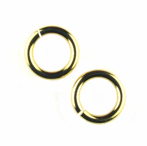 Snapeez II Ultraplate 10mm Jump Rings - 24 kt. Pure Gold (10)