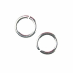 Snapeez II Ultraplate 10mm Jump Rings - 99.9% Pure Silver (10)