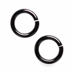 Snapeez II Ultraplate 10mm Jump Rings - Blackjack Black Nickel (10)