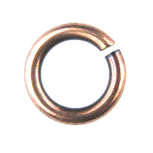 Snapeez II Ultraplate 12mm Jump Rings - Flamed Copper (6)