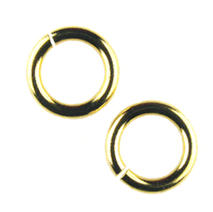 Snapeez II Ultraplate  14mm Jump Rings - 24 kt. Pure Gold (6)