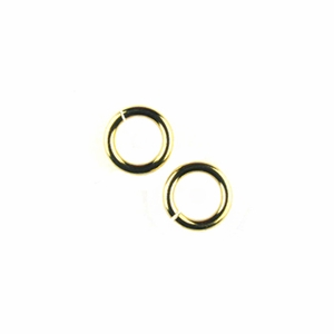 Snapeez II Ultraplate 4mm Jump Rings - 24 kt. Pure Gold (25)