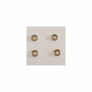 Snapeez II Ultraplate 4mm Jump Rings - Brass - (25) *new*